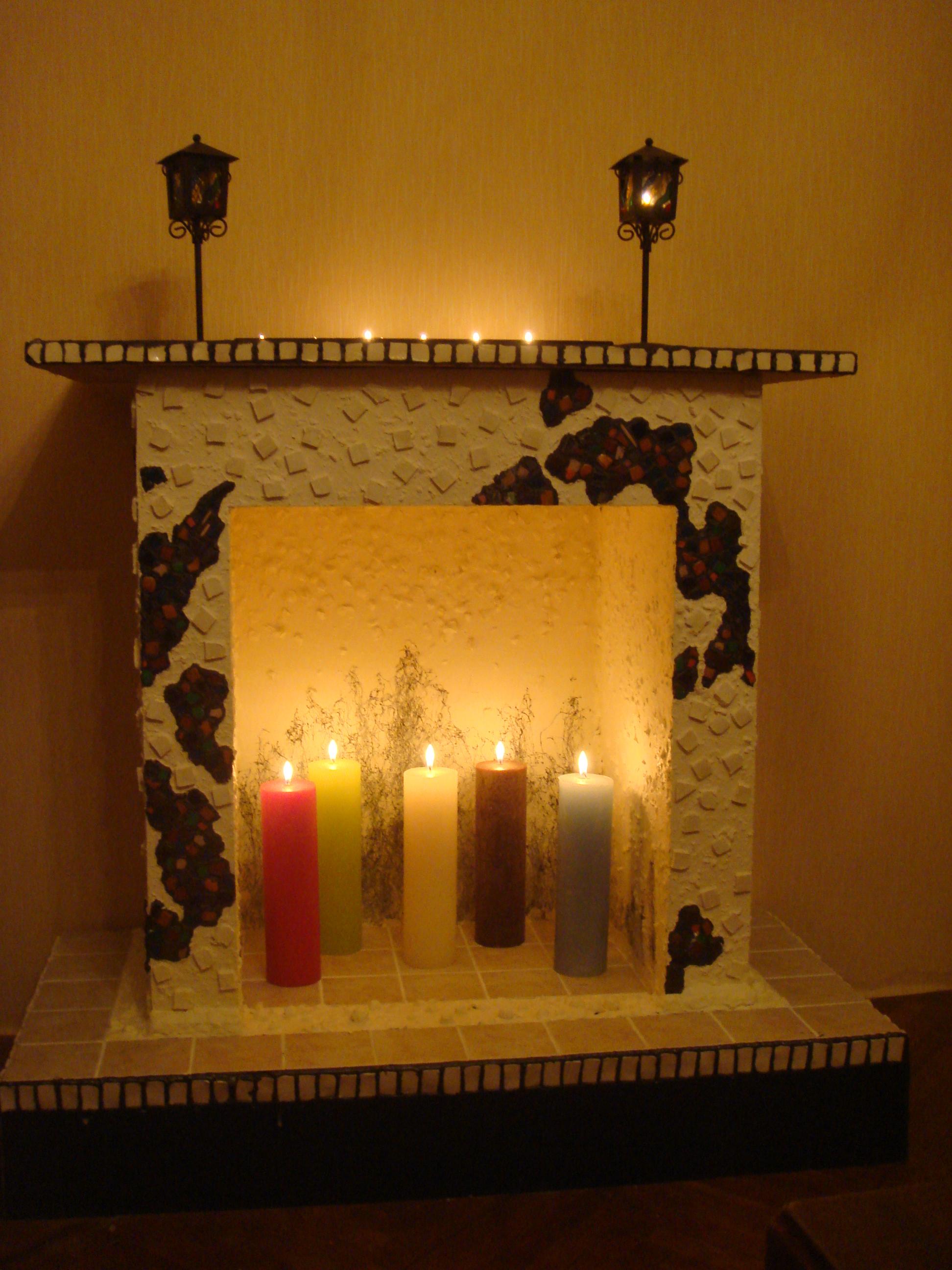 Как сделать свечной камин своими руками